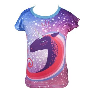 GIRLS T-Shirt Unicorn Galaxy Sold By GO FIND YOURSELF