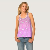 Pink Floral Blossom Tank Top