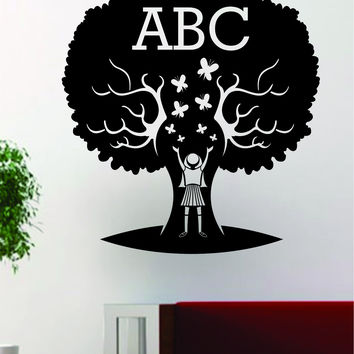 ABC Tree School Teacher Design Decal Sticker Wall Vinyl Decor