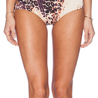 Somedays Lovin Native Ties Sporty Bikini Bottom in Brown