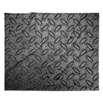 "Susan Sanders ""Industrial Urban Metal"" Black Gray Urban Contemporary Photography Fleece Throw Blanket"