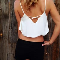 Flowy Criss Cross Crop Top