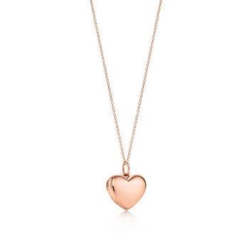Tiffany & Co. - Heart locket pendant in 18k rose gold, small.