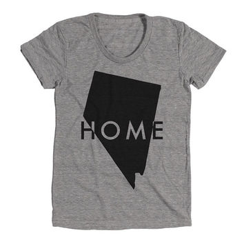 Nevada Home Womens Athletic Grey T Shirt - Graphic Tee - Clothing - Gift