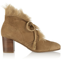 Pedro Garcia - Xadani shearling-lined suede ankle boots