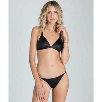 MIDNIGHT BEACH TRIANGLE BIKINI TOP