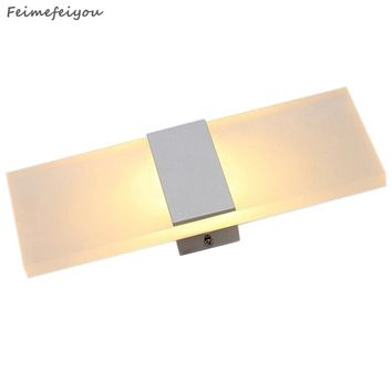 Mini 3w/6w/9w/12W Led Acrylic Wall Lamp AC85-265V 14/22/29/40CM Long warm white Bedding Room, Living Room, Indoor wall lamp