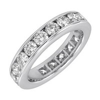 14k Yellow Gold Channel-Set Diamond Eternity Band (3 cttw, H-I Color, SI2 Clarity), Size 7