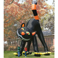 The Two Story Inflatable Black Cat - Hammacher Schlemmer