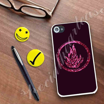 Divergent Dauntless The Brave Pink Sparkle Glitter Case for iPhone 4/4s, iPhone 5/5S/5C, Samsung S3 i9300, Samsung S4 i9500 **