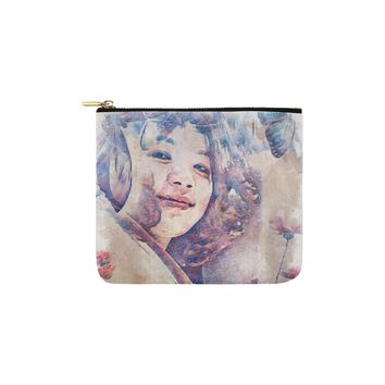 Levi Thang Vintage Face Design V Carry-All Pouch 6''x5''