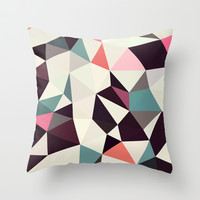 Retro Tris Light Throw Pillow by Beth Thompson