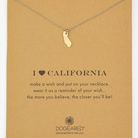 Women's Dogeared 'Reminder - I Heart California' Pendant Necklace