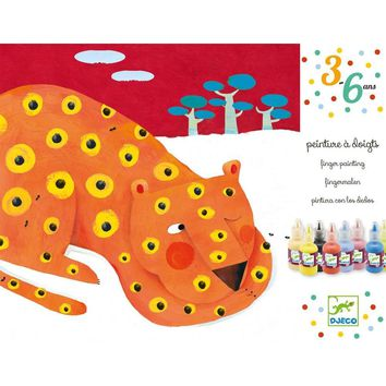 Djeco Finger Tracks Animal Finger Painting