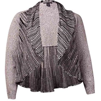 Style & Co. Women's Ruffled Open Front Cardigan Sweater
