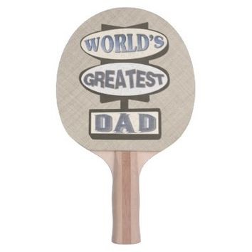 Father's Day Best Dad Hotel Sign Ping Pong Paddle