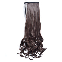 Natural hair ponytail extensions 4# ombre pony tail horsetail tail hair ponytail hairpieces for black women