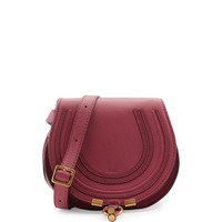 Marcie Small Leather Crossbody Bag, Pink