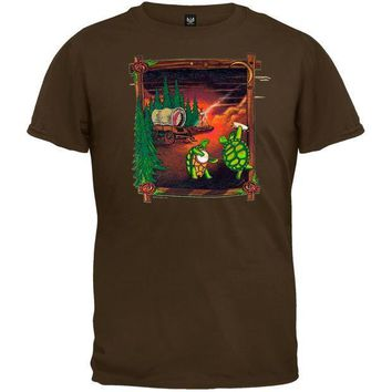 PEAPGQ9 Grateful Dead - Covered Wagon Chocolate Youth T-Shirt - Youth Large