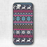iPhone 5 Case, iPhone 4 Case, iPhone 4S Case, iPhone Case  - Fair isle pattern - 165