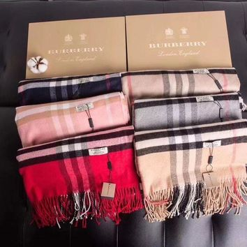 DCCKJH2 Burberry Fashion Men/Woman Cashmere Shawl Tassel Scarf