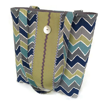 Blue handbag chevron stripe, Green chevron tote, Grey chevron purse, Green shoulder bag, Blue shoulder tote, Grey shoulder tote, Grey purse