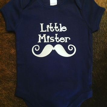 Little mister baby boys body suit Onesuit with mustache