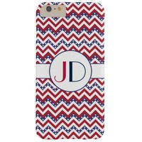 monogrammed USA chevron zigzag Barely There iPhone 6 Plus Case