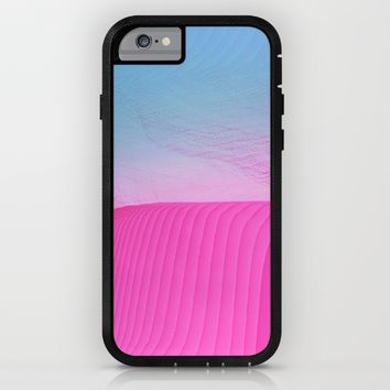 Beach Day -glitch- iPhone & iPod Case by Ducky B