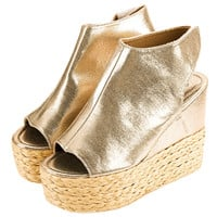 High Heels Gladiator Sandals Platform Knitted Women Wedges Shoes Female Trifle Open Toe High Flip Flops  Plus Size
