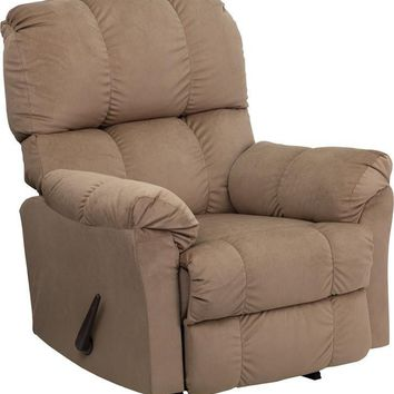 Contemporary Top Hat Microfiber Rocker Recliner