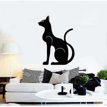Vinyl Wall Decal Egyptian Cat Ancient Egypt Magic Animal Stickers Mural (g473)