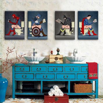 HD Superman Posters Canvas Art Print Painting Poster, Print Wall Pictures For Home Decoration, Wall Decor Wall Art 2017022134