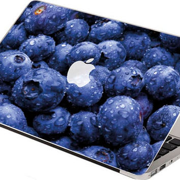 Stickers Macbook Decal Skin Macbook Air Skin Pro Skins Retina Cover blueberry berry Christmas Gift New Year ( rm15)