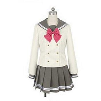lovelive sunshine Aqours Tsushima Yoshiko Cosplay Costume Japanese Anime Love live Girl Sailor School Uniform Suit Clothes