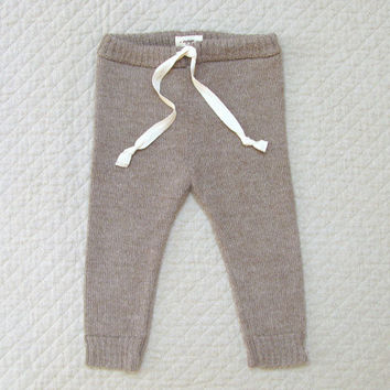 Baby Alpaca Wool Drawstring Pants