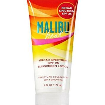 Bath & Body Works MALIBU HEAT Sunscreen Lotion SPF 25
