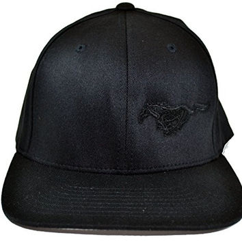 Brand NEW Ford Flex Fit Black w/ Black Mustang Pony Logo Hat Size S/M High Quality Material