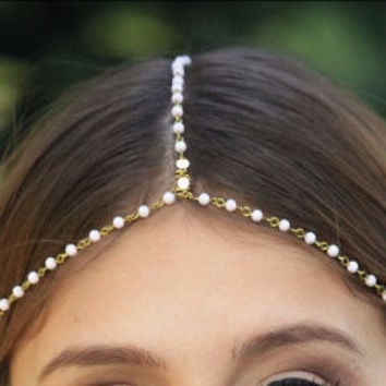 Pearl Simple String Hair Piece