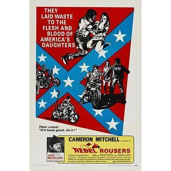 Rebel Rousers Movie poster Metal Sign Wall Art 8in x 12in