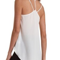 Beaded Strappy High-Low Tank Top by Charlotte Russe