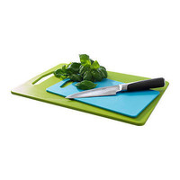 IKEA LEGITIM Plastic Chopping Board ( Set of 2 ) Green/blue Color