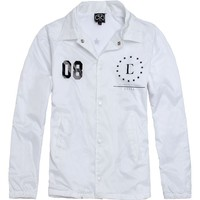 Civil Coach Star Windbreaker Jacket - Mens Jacket - White