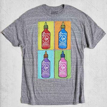Pop Art Sriracha Tee- Grey