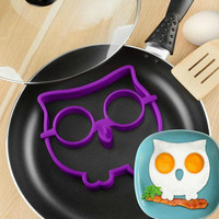HOT! Breakfast Silicone Owl Animal Fried Egg Mold Pancake Egg Ring Shaper Funny Creative Kitchen Tool