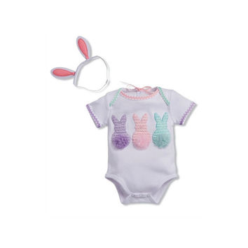 Mud Pie-Easter Crawler & Bunny Ears HB (Size 0-6 Mth)