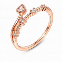 Fashion Flower Rattan 18K Rose Gold Plated Punk Retro Finger Ring Women Engagement  Wedding Band Bride 4c7e4919f7d8