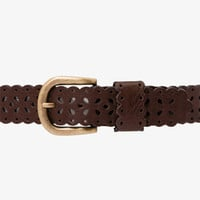 Cutout Faux Leather Belt