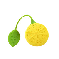 Vorkin Yellow Color 1 PC Silicone Drinker Teapot Teacup Herb Tea Strainer Filter Infuser Lemon Bag