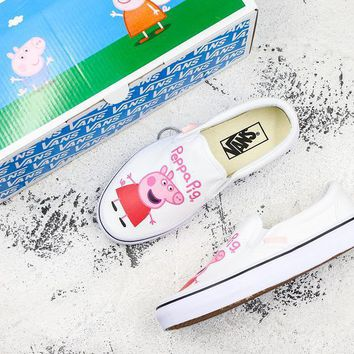 ¡°Peppa Pig¡± x Vans Slip On White Sneakers